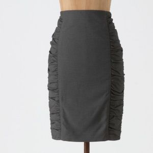 Cartonnier Side Ruched Pencil Skirt